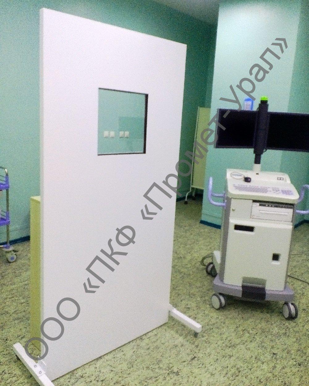 Установка рентгенозащитных стекол