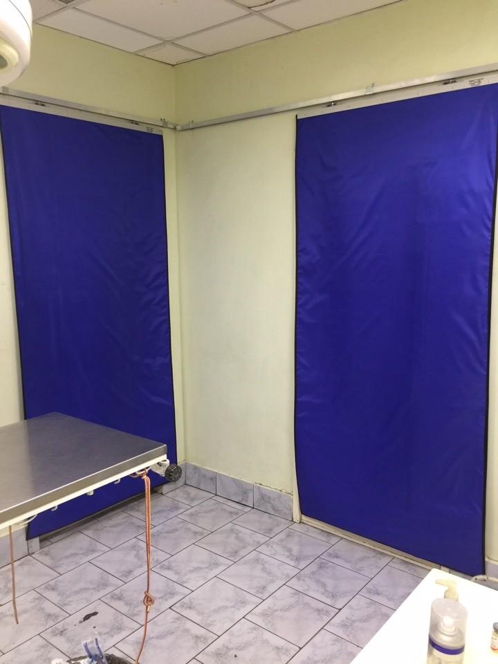 Рентгенозащитная штора в хирургический кабинет